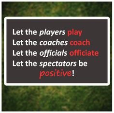 """#VCTip When you're a parent attending your child's sporting events try to keep your cool when you're in the stands! Remember that """"Sportsmanship is an expectation. Let the players play, let the coaches coach, let the officials officiate, and let the spectators be positive!""""  Read our Youth Sports blogs for more great tips!"""