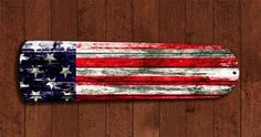 Rustic Barn USA American Flag Ceiling Fan BLADES living room decor Man Cave A