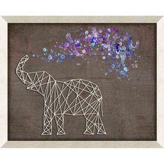 Purple Elephant Framed Wall Art 11 x - Modern