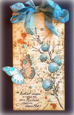 Hello lovelies! A vintage style tag today, using stamps from Penny Black, Hero Arts, Tim Holtz and Inkylicious... Hope you like! Thank you...