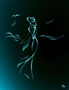 Digital Fashion Illustration Aqua and Black Digital Fashion Illustration Aqua and Black Art Sketches, Art Drawings, Abstract Drawings, Illustration Mode, Illustration Fashion, Fashion Illustrations, Silhouette Art, Woman Silhouette, Black Art