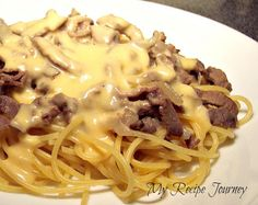 Philly Cheese Steak Spaghetti...Family Approved =D