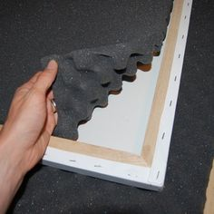 Decorative DIY Sound Absorbing Panels - check out the kid involvement in fabrication.  :-)