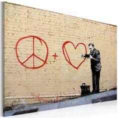 Nowoczesny obraz #banksy #art #modern #sztuka #wystrój #graffiti