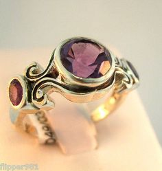 Amethyst Ring Sterling Silver Size 7 1/2