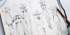 Fashionary sketches by Vikki Yau