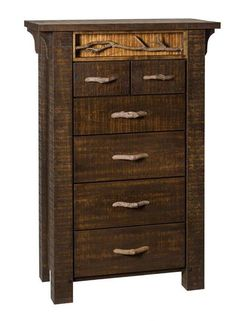 Amish Glen Arbor Rustic Six Drawer Chest Retreat to your cozy bedroom with the natural look of this rustic dresser. Made with solid wood and offering plenty of storage. Amish made in America.