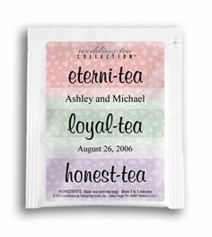 Eterni-Tea Wedding Favor Teas $1.89