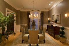 Formal Transitional Dining Room by Doreen Le May Madden on HomePortfolio