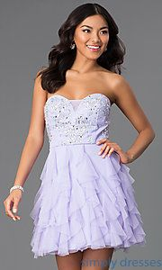 Buy Short Strapless Sweetheart Dress at SimplyDresses $79