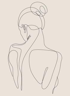 dissol - one line art - pastel Art Print by dronathan Abstract Face Art, Abstract Lines, Line Art Design, Outline Art, Minimalist Art, Aesthetic Art, Art Drawings, Line Drawing Art, Abstract Drawings