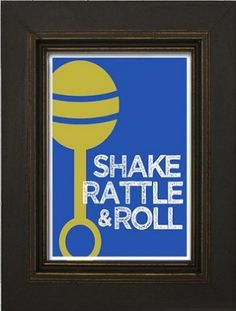 "For your little rockstar: ""Shake Rattle and Roll"" nursery wall art"