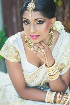 Traditional Indian bride wearing bridal