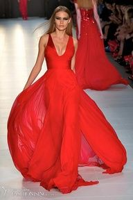 Weddings | Fire Engine Red - Alex Perry A/W '12 - #designer #gowns #red #bridal