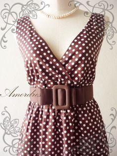 Brown Dot Dress!  https://www.etsy.com/listing/94705172/amor-vintage-inspired-polka-dot-cocktail?ref=v1_other_2