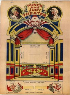 Card toy theatre with Punch and Judy Courtesy George Midge Horton