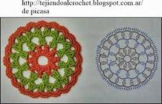 Resultado de imagen para circulos a crochet patrones