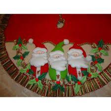 Resultado de imagen para pies de arbol navideños Christmas Tree Decorations, Holiday Decor, Home Decor, Google, Ideas, Christmas, Elegant Christmas Trees, Christmas Fabric, Christmas Crafts