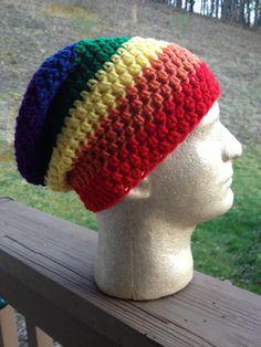Slouchy Beanie, Gay Pride, Rainbow on Etsy, $18.00