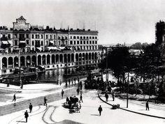 hamburg 1900   Ca. 1903. Blick vom Rathausmarkt auf die Alsterarkaden.