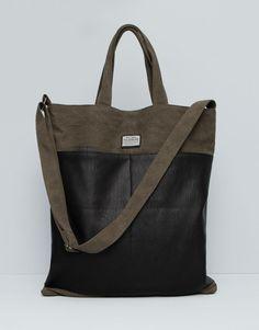 Pull&Bear - homme - nouveautés - sac à dos shopping - kaki - 09821505-I2015