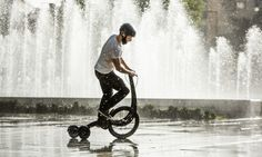 Halfbike 2.1 combines all the best parts from bike riding, running and scooting in one foldable device.