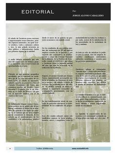 Editorial por Jorge Alonso Caballero de la edición Septiembre número dedicado a Zacatecas de Revista 400 #Editorial #Revista400 #DesarrolloSustentable #Zacatecas Revista 400 septiembre 2015