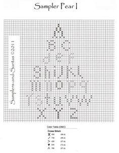 Samplers and Santas: Pears