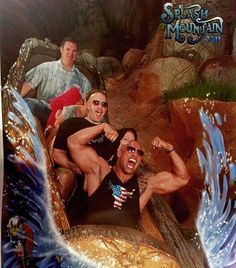 """The """"Can You Smell What The Rock Is Cooking?"""" (Dwayne Johnson only.)   The 31 Greatest Roller Coaster Poses"""