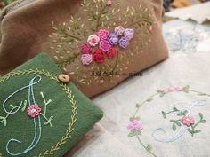 #Embroidery#stitch#needlework #프랑스자수#일산프랑스자수#자수 #장미파우치와 이니셜바늘집~~