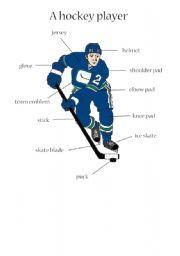 English worksheet: Hockey equipment