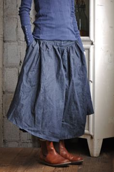 Kelen (Japan) - cotton skirt - buttoned cuff