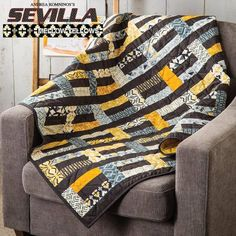 """82 Likes, 4 Comments - Benartex Fabrics (@benartex_fabrics) on Instagram: """"Look at this amazing modern quilt using our contemporary """"Sevilla"""" fabrics. Another great quilt…"""""""