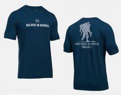 cbfbd5c0 Under Armour Men's HeatGear UA WWP Believe in Heroes Blue TShirt 4XL  1268757-408 #UnderArmour #GraphicTee