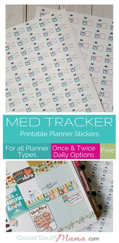 Medicine Tracker Free Printable Planner Stickers