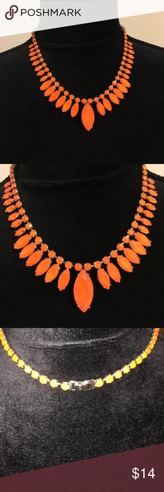 Beautiful orange necklace! Beautiful ann taylor stone necklace. Perfect for fall! Ann Taylor Jewelry Necklaces