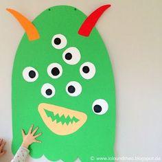 Kindergeburtstagsspiel / Spiel für Monstergeburtstag / Kleb dem Monster ein Auge an