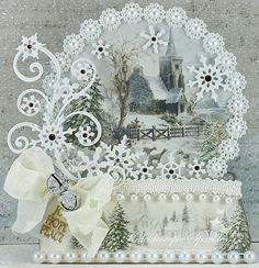 Live & Love Crafts' Inspiration and Challenge Blog: Glistening Season Snow Globe