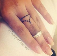Small rosary finger tattoo - I'm not religious, but this is beautiful.