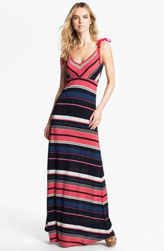 maxi dress pink stripe | French Connection Stripe Maxi Dress in Pink (sorrento stripe) - Lyst