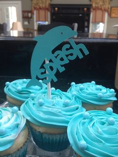 Cupcake toppers for Dolphin Tale 2 birthday party