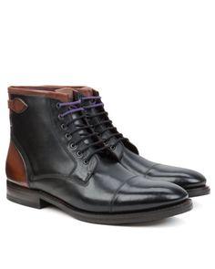 Toe cap derby boot - Black   Shoes   Ted Baker www.MadamPaloozaEmporium.com www.facebook.com/MadamPalooza