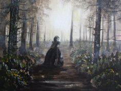 Titokzatos erdő#Mysterious forest#akril#acrilyc#vászon#canvas#18x24cm