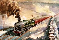 'Cumbrian Winter' on board Paintings for Sale - Tom HollandNorth West Steam Railway Transport Posters, Train Posters, Steam Railway, Train Art, Train Pictures, Train Tickets, Steam Engine, Steam Locomotive, Tom Holland