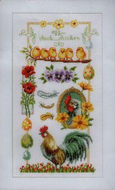 Chickens - Cross Stitch Patterns & Kits - 123Stitch.com