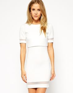 ASOS Sheer & Solid Crop Top Body-Conscious Dress