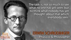Erwin Schrödinger (1887 – 1961) was a Nobel Prize-winning Austrian physicist who developed fundamental results in the field of quantum theory, which formed the basis of wave mechanics. He made several attempts to construct a unified field theory and in his book What Is Life? Schrödinger addressed the problems of genetics, looking at life from the point of view of physics. He paid great attention to the philosophical aspects of science, ancient and oriental philosophical concepts, ethics.