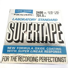 Supertape Realistic Laboratory Standard Reel to Reel Low Noise 2400 ft 7 inch #Realistic