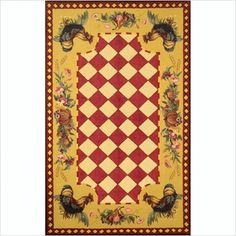 Easy Financing Trans Ocean Tuscany Rooster Red Rug Size Runner 2 X