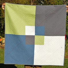 So simple - Great idea for a quilt back!